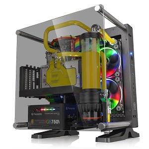 Thermaltake Core P1 TG オープンフレームPCケース 壁掛け可能なコンパクトサイズの強化ガラス CS6812 CA-1H9-00T1WN-00
