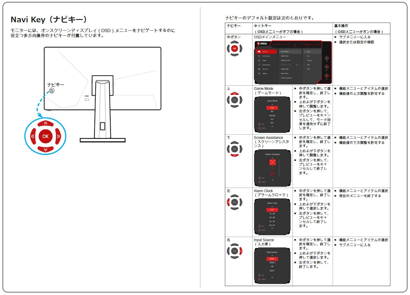 MSI OPTIX MAG251RX_OSD-Control