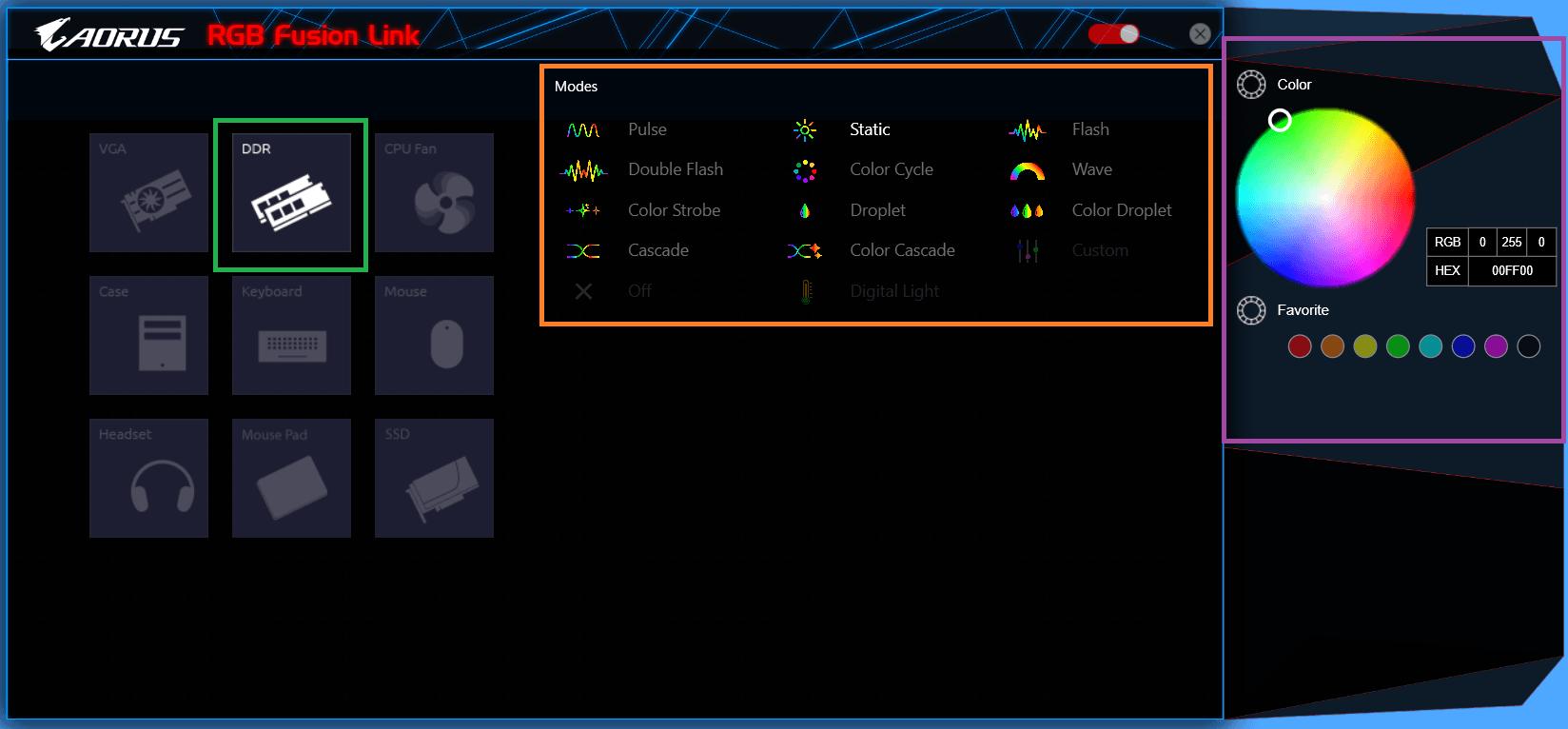 GIGABYTE AORUS RGB Memory_RGB Fusion Link (1)