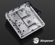 Bitspower Mono Block GAZ370G7 RGB-Nickel