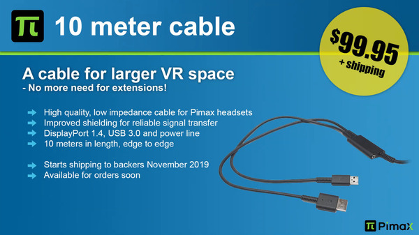 Pimax 10 meter cable