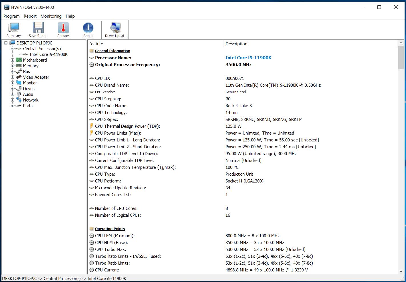 MSI MEG Z590 ACE_Core i9 11900K_TDP