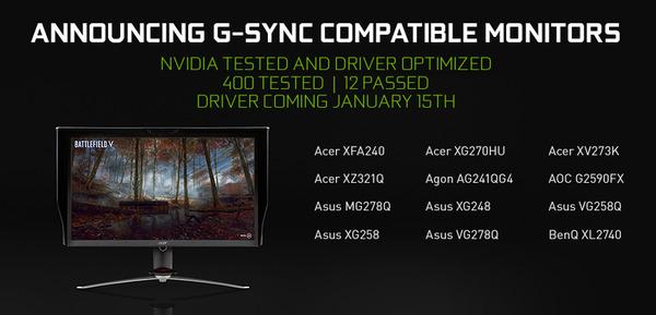 G-SYNC Compatible Monitors