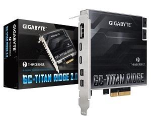 GIGABYTE GC-TITAN RIDGE 2.0 Thunderbolt3拡張カード