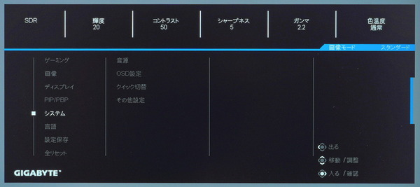 GIGABYTE M28U_OSD_menu (5)