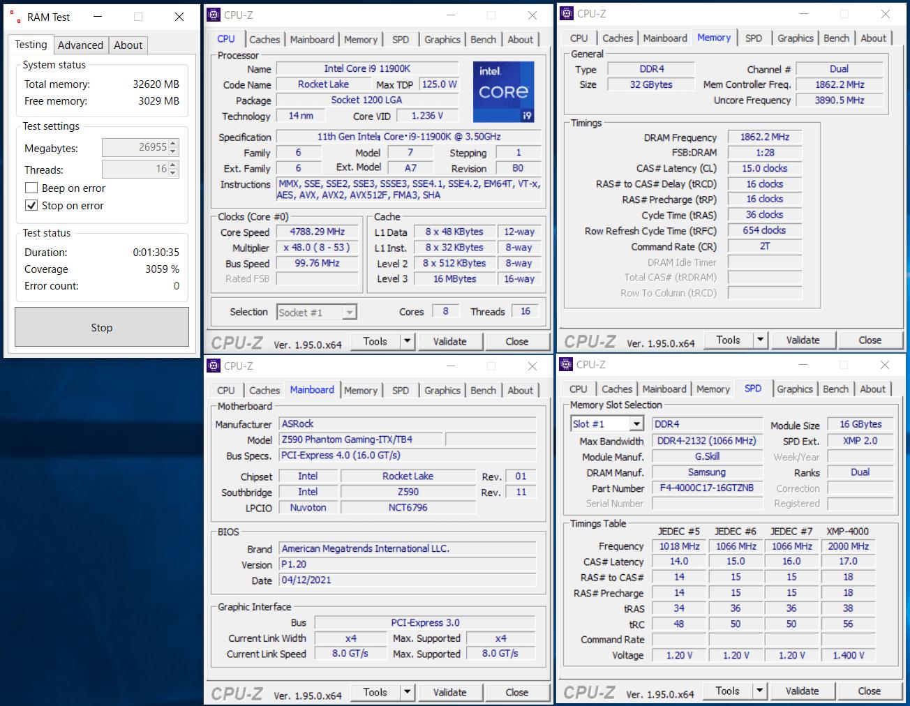 ASRock Z590 Phantom Gaming-ITXTB4_11900K_memtest_3733_c15_g1