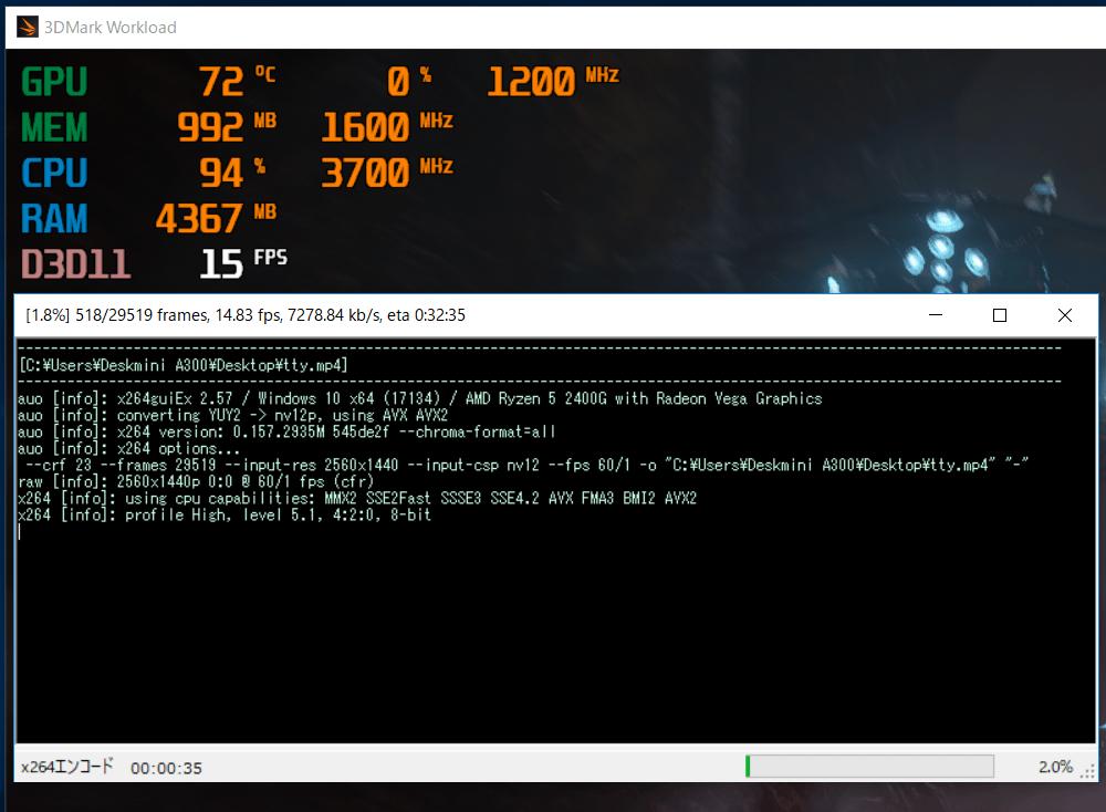 ASRock DeskMini A300_Ryzen 5 2400G_stress_max