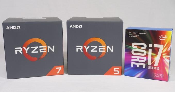 Ryzen 5 1600とCore i7 7700Kのゲーム性能を徹底比較