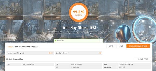 Radeon RX 5700_TimeSpy Stress Test