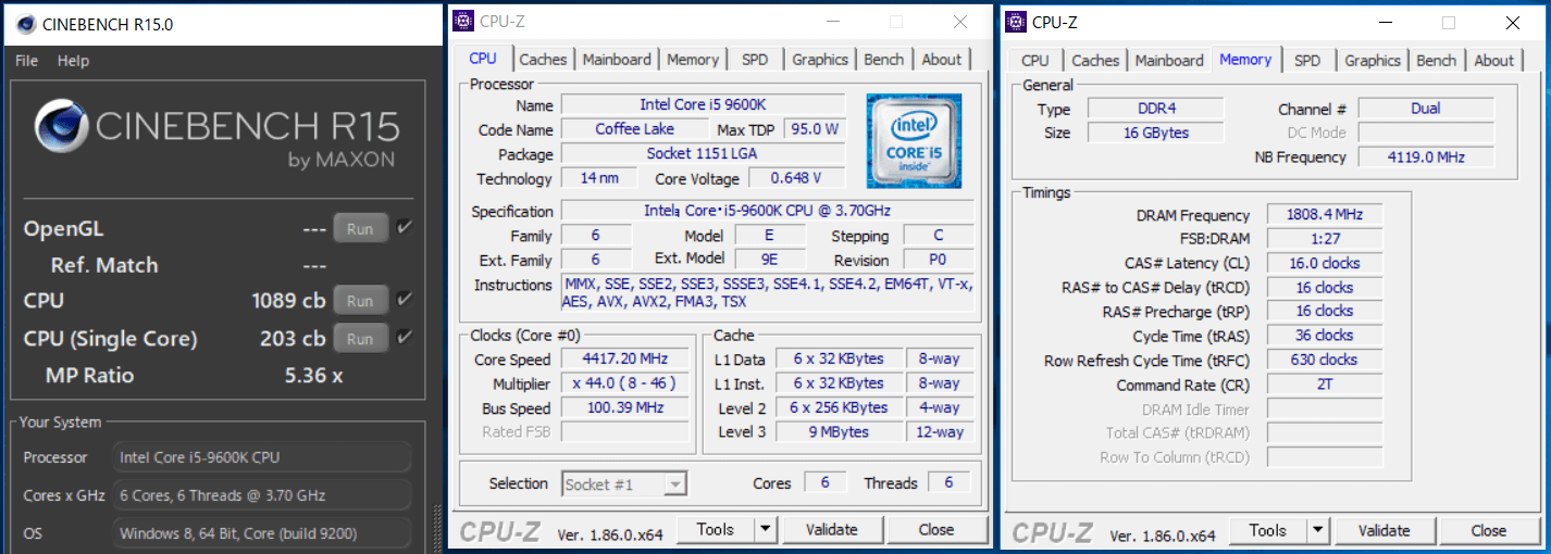 Core i5 9600K_cinebench