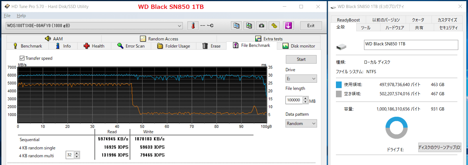 WD Black SN850 1TB_SLC-Cache_450GB-Free