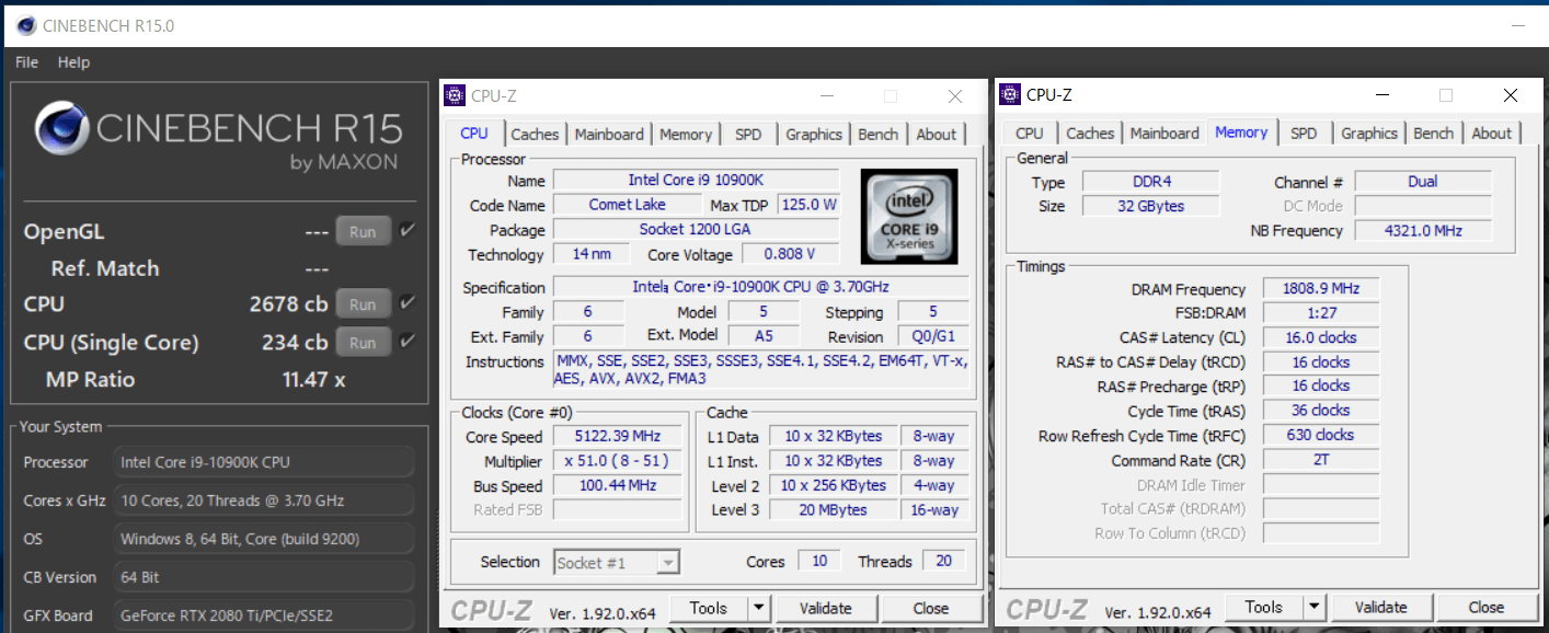 Intel Core i9 10900K_cinebench-R15