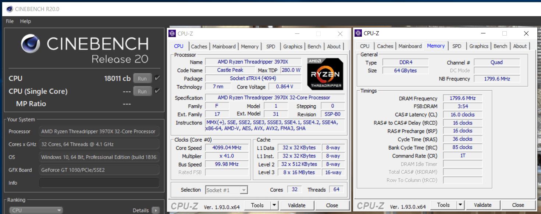 AMD Ryzen Threadripper 3970X_OC_cinebench