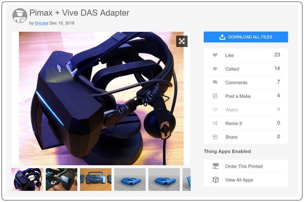 Pimax + Vive DAS Adapter