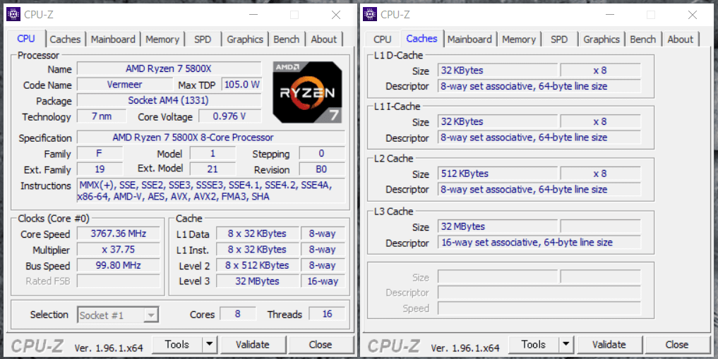G-GEAR alpha GS7A-B204TWH_Ryzen 7 5800X_CPU-Z