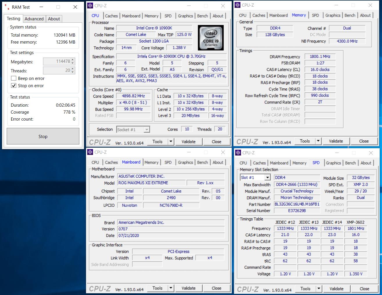 Crucial Ballistix BL2K32G36C16U4B_Z490_x4_ramtest.png