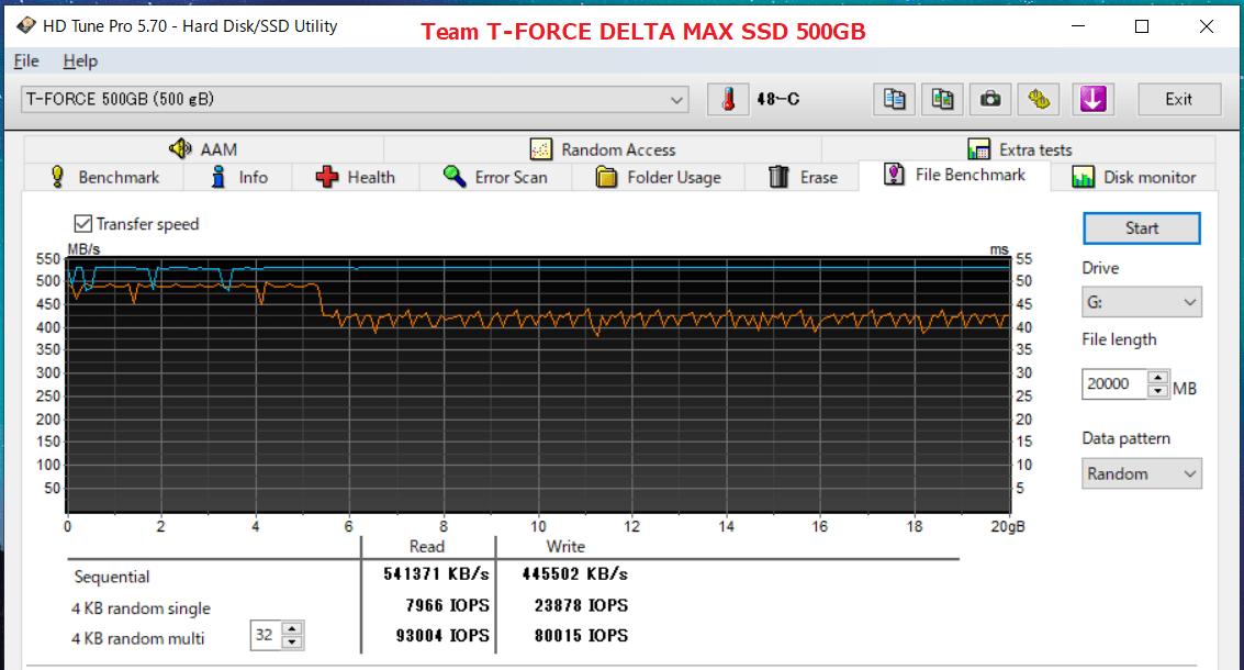 Team T-FORCE DELTA MAX SSD 500GB_HDT