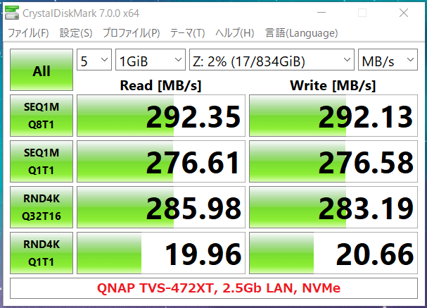 QNAP TVS-472XT_2.5Gb LAN_NVMe