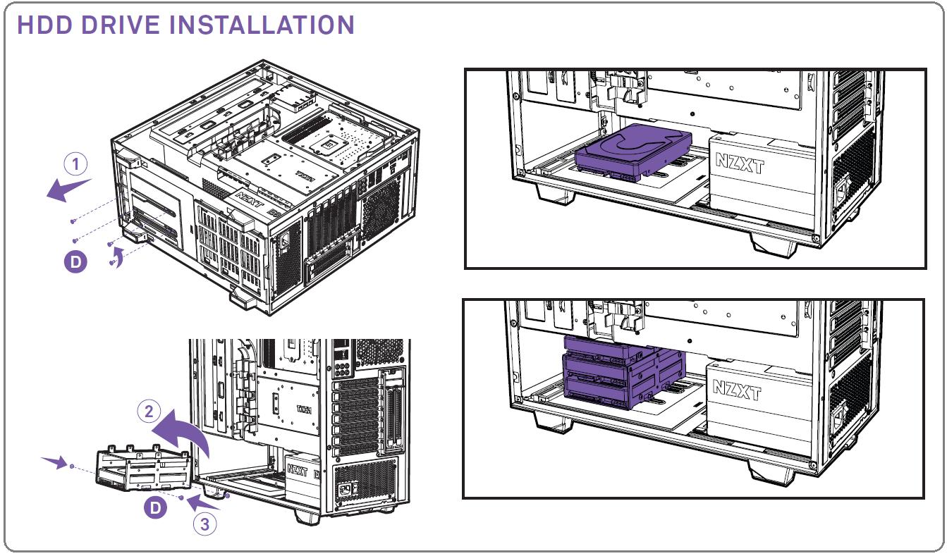 NZXT H500i_HDD Instlation