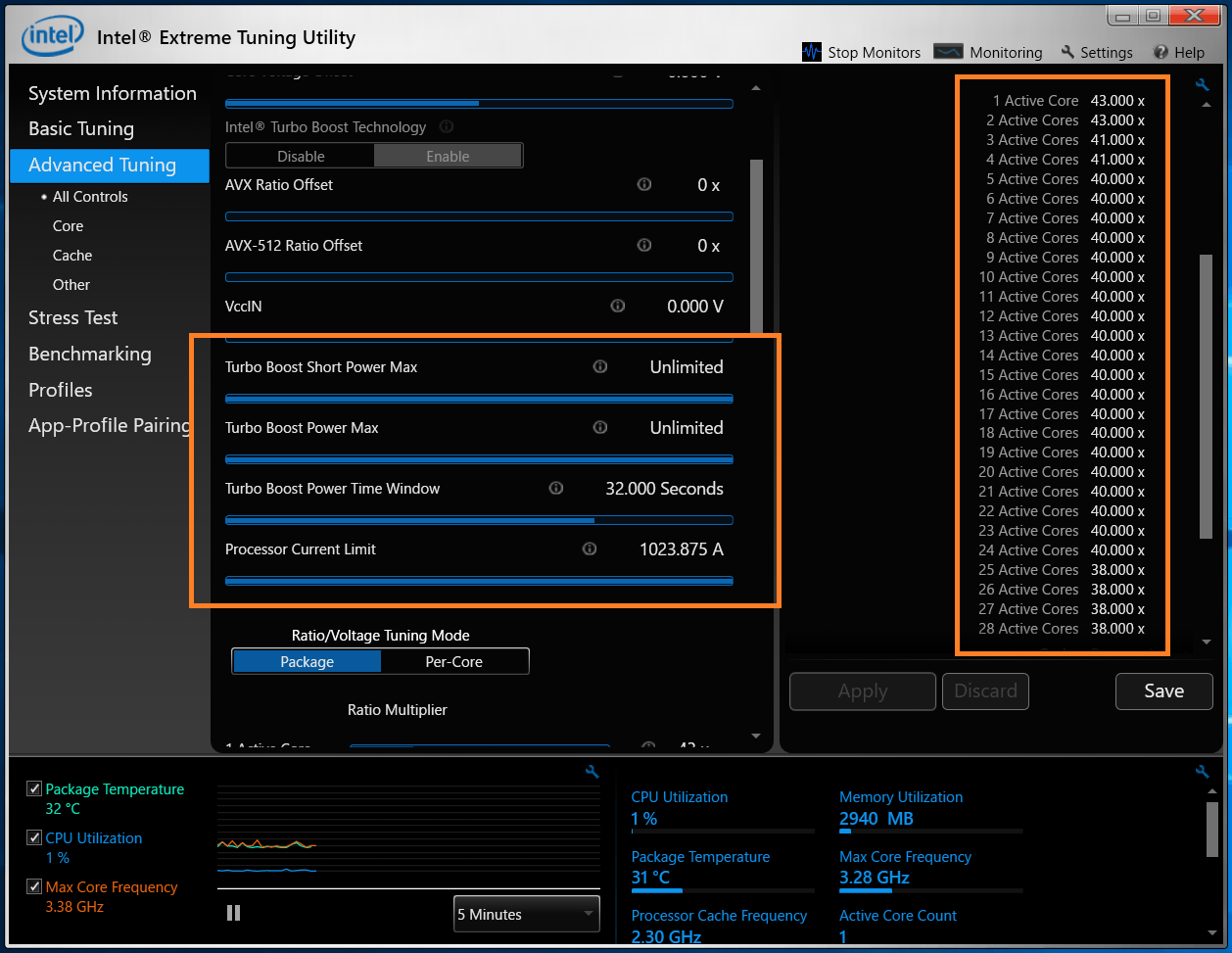 Intel Xeon W-3175X_Spec-Core Ratio