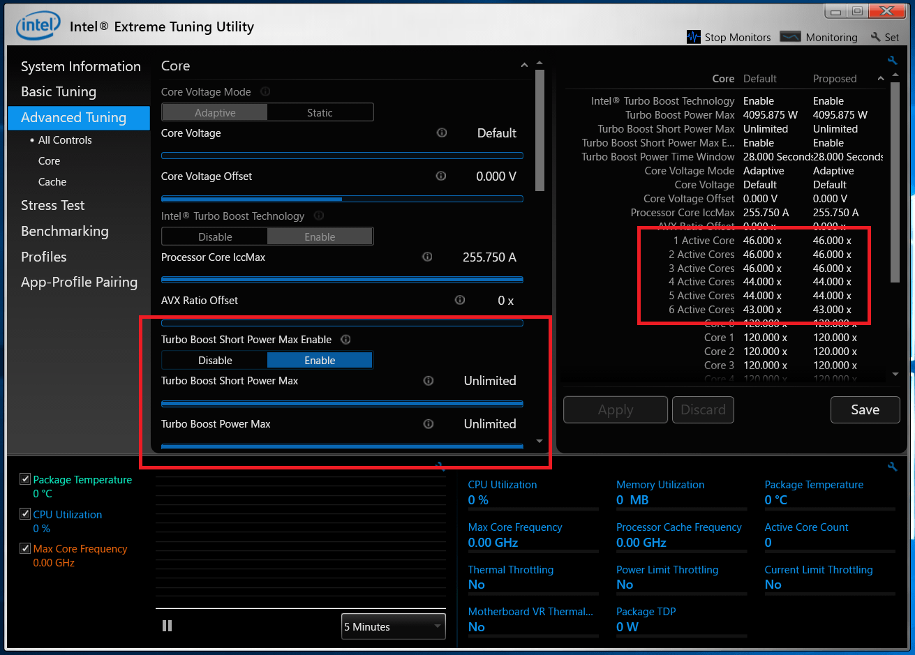 Core i5 9600K_clock_setting