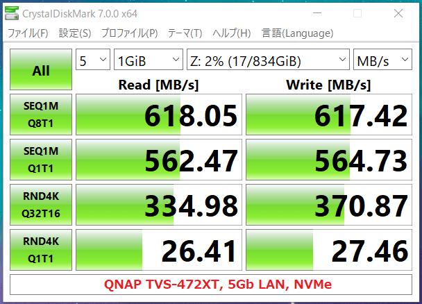 QNAP TVS-472XT_5Gb LAN_NVMe