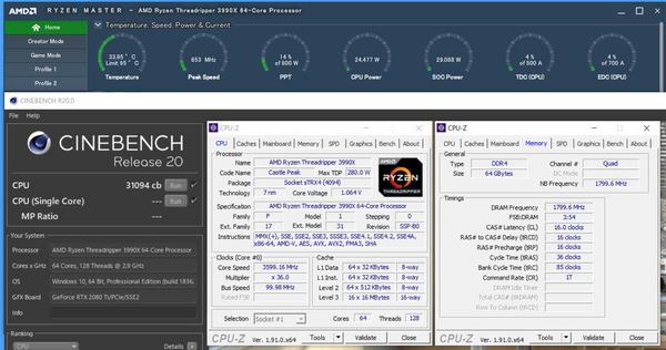 AMD Ryzen Threadripper 3990X_PBO_800W_cinebench