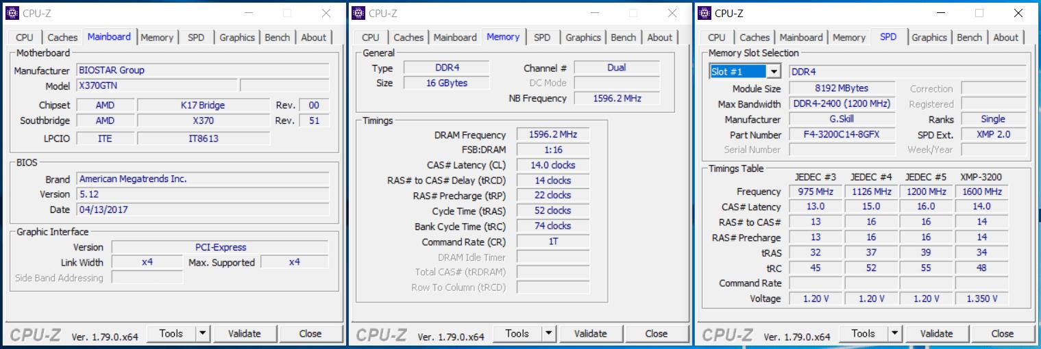 G.Skill FLARE X_XMP3200_Biostar_X370GTN_1