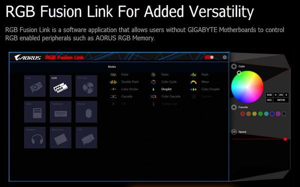 GIGABYTE RGB Fusion Link