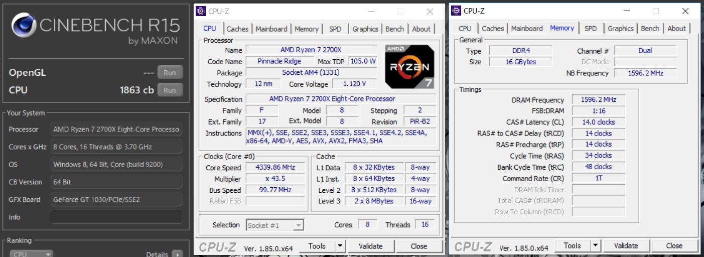 ASRock Fatal1ty X470 Gaming-ITX_ac_OC test_cine
