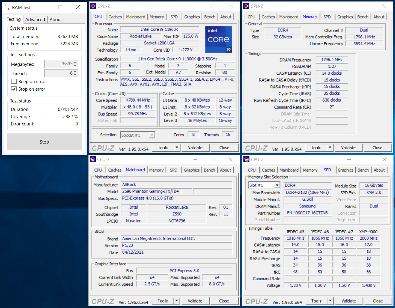ASRock Z590 Phantom Gaming-ITXTB4_11900K_memtest_3600_c14_g1