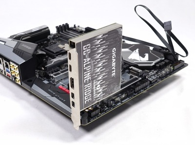 GIGABYTEからPD3 0 100W給電対応Thunderbolt3増設PCIE拡張ボード