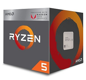 AMD Ryzen 5 2400G 4コア8スレッド (YD2400C5FBBOX)