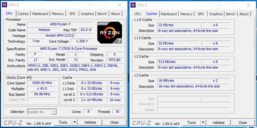 AMD Ryzen 7 3700X_CPU-Z