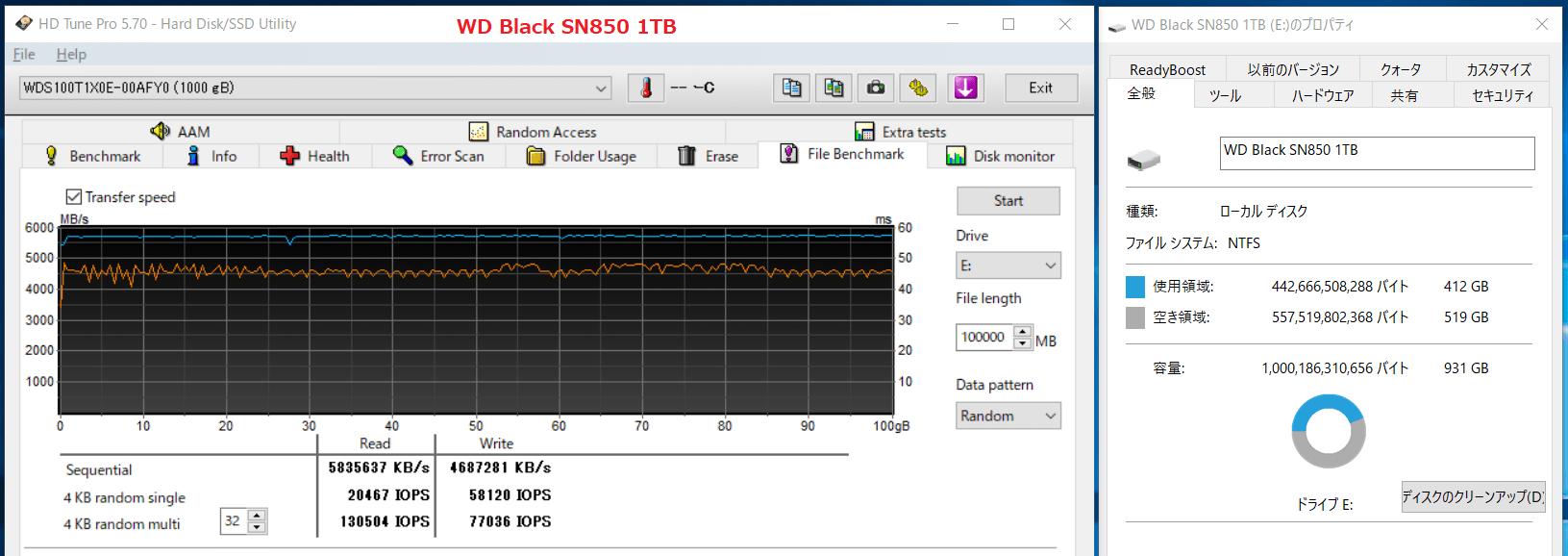 WD Black SN850 1TB_SLC-Cache_500GB-Free