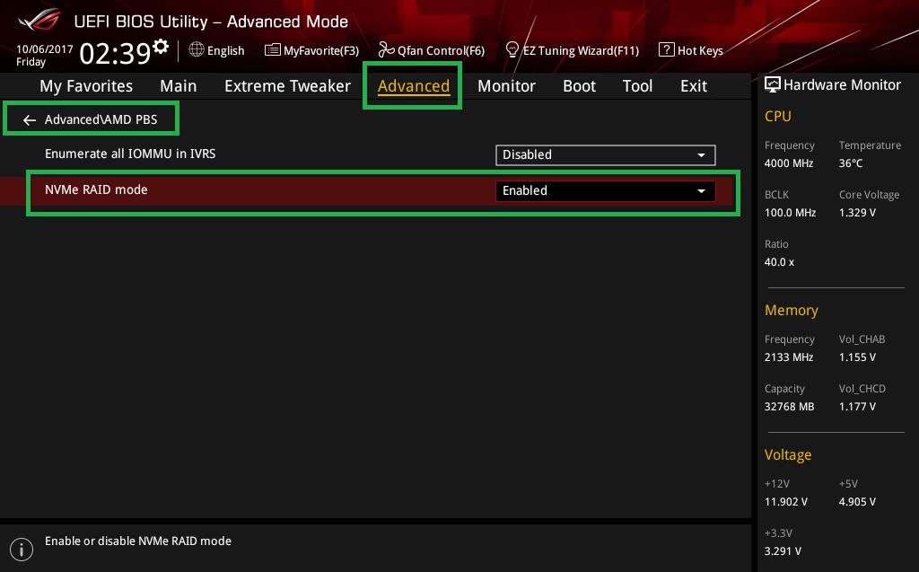 Threadripper NVMe RAID OSインストール_3