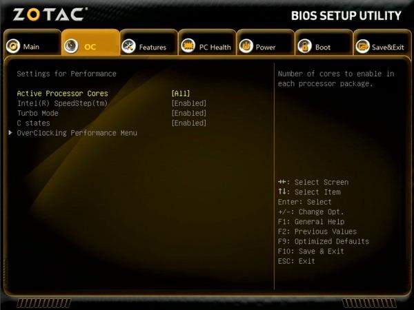 ZOTAC ZBOX Eシリーズ EN52060V BIOS_menu (2)