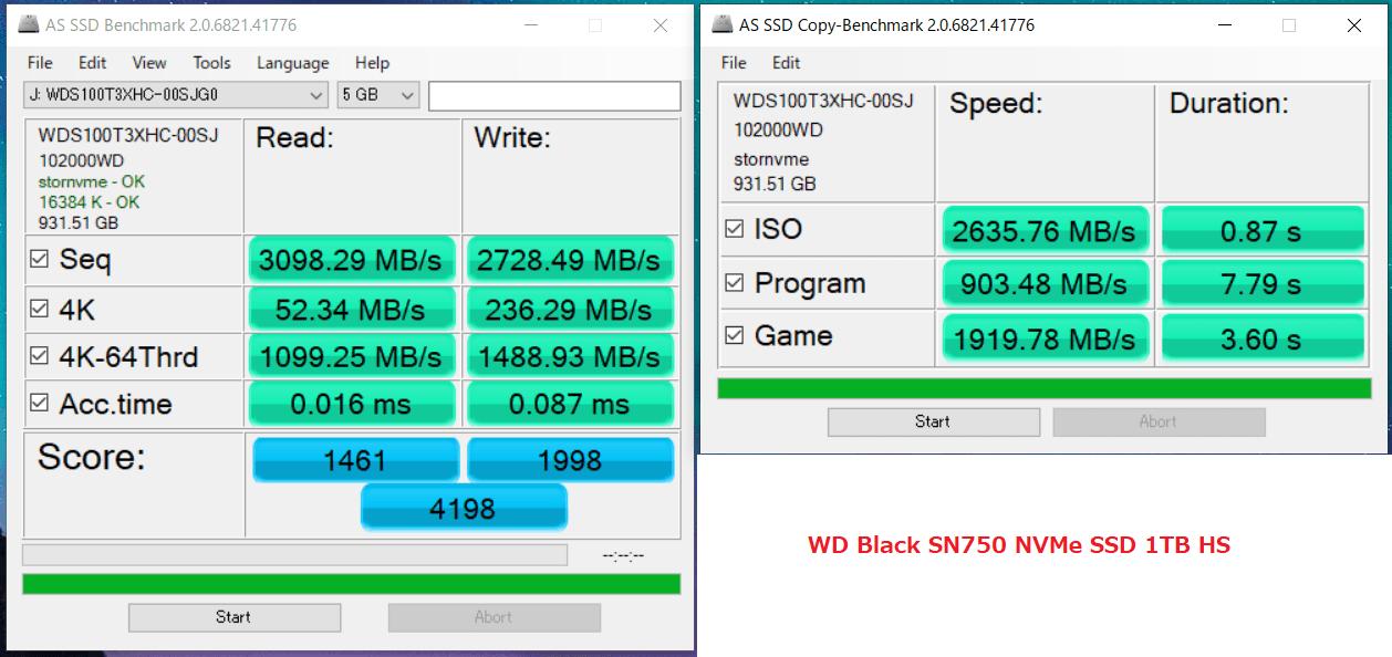 WD Black SN750 NVMe SSD 1TB HS_AS