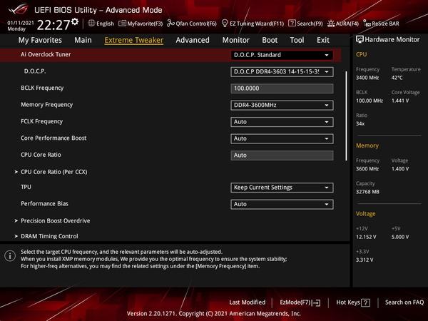 ASUS ROG Crosshair VIII Dark Hero_OC Test_BIOS (1)