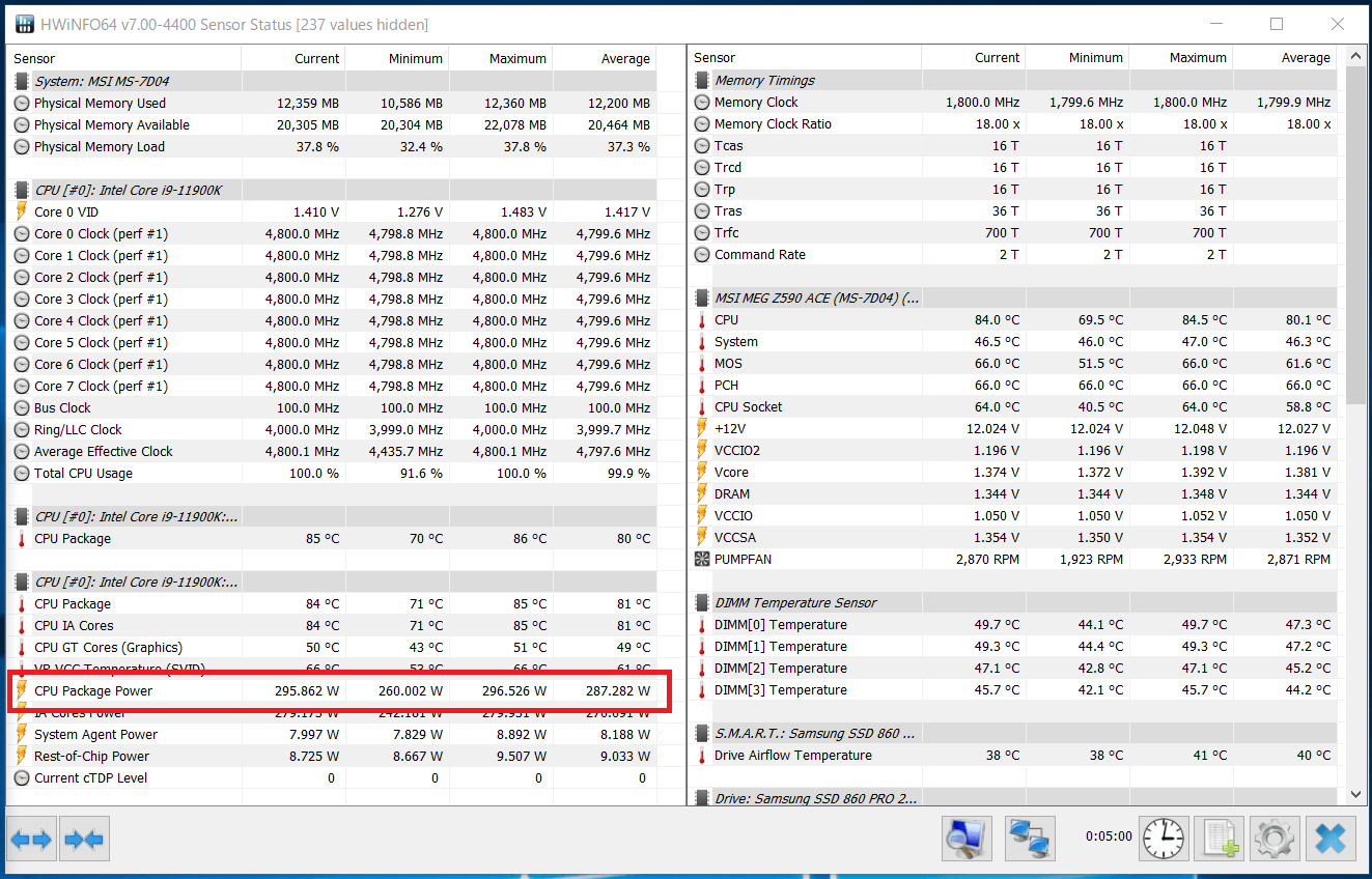 Intel Core i9 11900K_Boost-Clock_multi_AVX512