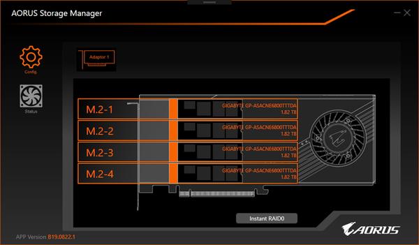GIGABYTE AORUS XTREME Gen4 AIC SSD_AORUS Storage manager