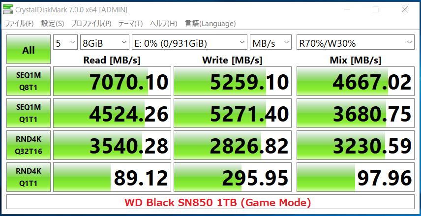 WD_BLACK SN850 NVMe SSD 1TB(Game Mode)_CDM7