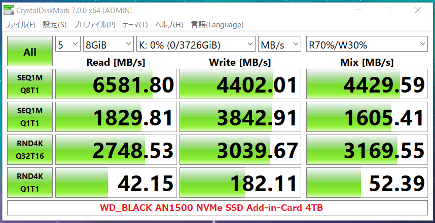 WD_BLACK AN1500 NVMe SSD Add-in-Card 4TB_CDM7