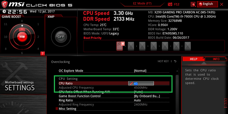 MSI X299 GAMING PRO CARBON AC_BIOS_OC_3