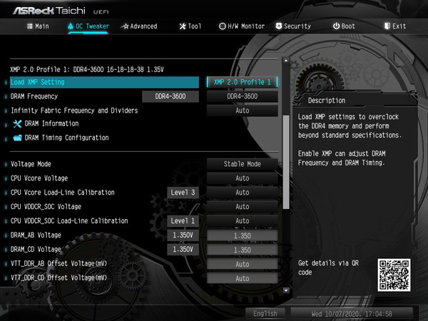 Crucial Ballistix BL2K32G36C16U4B_TRX40_BIOS