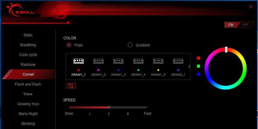 Trident Z RGB Control_Comet