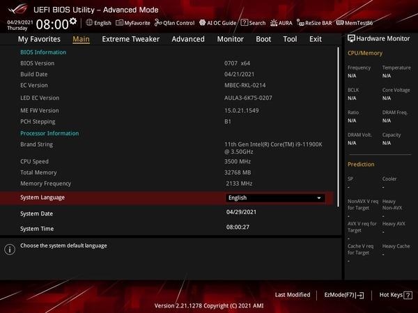 ASUS ROG MAXIMUS XIII APEX_BIOS_2