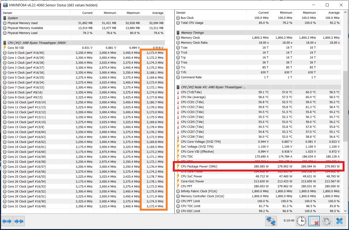 AMD Ryzen Threadripper 3990X_Core-Clock_Boost_Multi