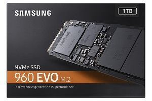 Samsung 960 EVO 1TB NVMe M.2 SSD (MZ-V6E1T0BW)