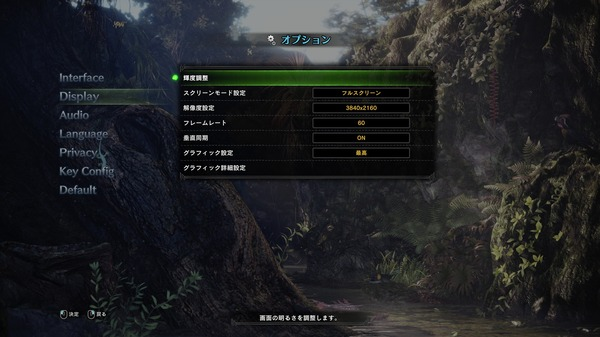 MONSTER HUNTER WORLD PC_graphic setting_1